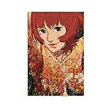 Pimentón Anime Film Poster Ciencia ficción Psicológica Póster de la película de la pintura decorativa de la pared del arte de la pared de la sala de estar carteles del dormitorio pintura de 50 x 75 cm