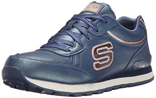 Skechers Originals OG 82 Shimmers, Zapatillas de Deporte, Azul (Nvy), 35 EU