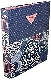 Carpeta 4 Anillas Privata Live | Archivador 4 Anillas A4 Escolar, Carpeta Clasificadora Anillas Juvenil con Tapa Dura de Cartón de Gran Calidad - Medidas 26,5 x 34,5 x 5 cm
