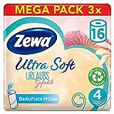 Zewa Toilettenpapier Ultra Soft Limited Edition, 4-lagig, Riesenpackung 3x16 Rollen mit je 150 Blatt