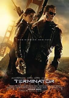 Terminator Genisys - Movie Poster 24 x 36 Inches, Glossy Finish (Thick): Arnold Schwarzeneggar, Emelia Clarke, Jason Clarke