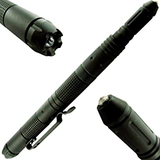 Under Control Tactical Pen for Self Defense with Built-in LED Flashlight, DNA Defender, Glass Breaker - Special Military, Police, Swat Edition - New 2019 Model
