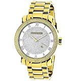 Mens Diamond Watch 0.12ctw of Diamonds by Luxurman