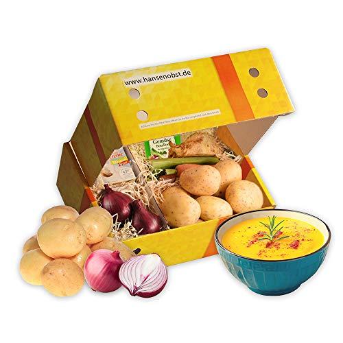 Kochbox Kartoffel-Suppe mit allen Zutaten für eine leckere Kartoffelsuppe in klassischer Geschenkbox mit Rezept