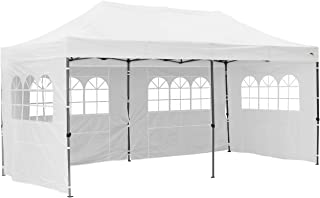 10 x 20 ft Outdoor EZ Pop Up Canopy Tent Commercial Instant Sun Shelter Adjustable Folding Gazebo Party Waterproof Tent with 4 Removable Sidewalls,Heavy Duty Roller Bag