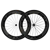 Eagle Lightweight 65/65 Carbon Fiber Clincher Wheels in Black for Road Bikes - Eagle 280 Hubs - Free Conti Tires