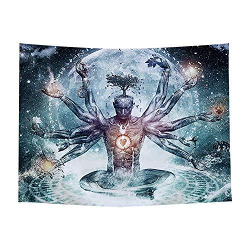 YUEKUN Tapiz de Pared con diseño de Buda Indio con Miles de Manos, Santa Budismo, Yoga, meditación, Colgar en la Pared, Estilo Bohemio, Hippie, Mandala, tapicería, decoración de Pared