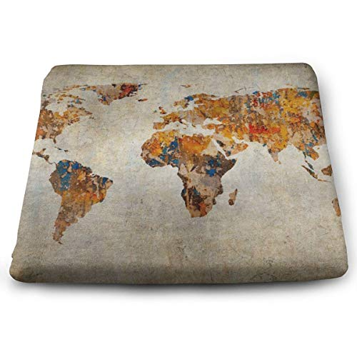 BathWang Stuhlkissen, Memory-Schaumstoff, ultimativer Komfort und Weichheit, quadratisch, 38,1 x 33 cm, antiker Erdfarben