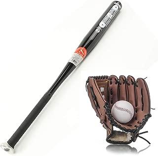 IDE Con Conjunto de béisbol, Bate de Madera, Guante y Bola de béisbol, Mayor de la Liga de béisbol Menor BallLittle Conjunto Kit Multicolor 25', Infantil Mixta Conjunto de béisbol