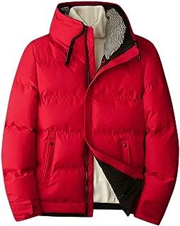 iLOOSKR Winter Warm Plus Size Mens Comfy Solid Color Hoodie Jacket Quality Top Coat