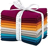 Robert Kaufman Kona Cotton Solids Tuscan Skies Fat Quarter Bundle 12 Precut Cotton Fabric Quilting FQs Assortment FQ-1384-12