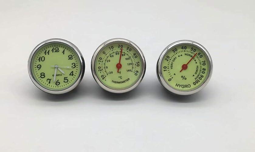想像する地球集まるDoyime 追加メーター風 アナログ メーター 温度計 湿度計 時計 マルチ車載