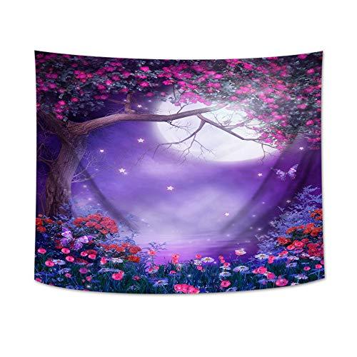 jtxqe Tapiz de fantasía Estampado de Tela de tapicería Decoración para el hogar Tapiz Tapiz - 150 * 130 cm