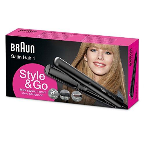 Satin-Hair Straighteners by Braun Satin Hair 1 ST100 Style & Go Mini Styler