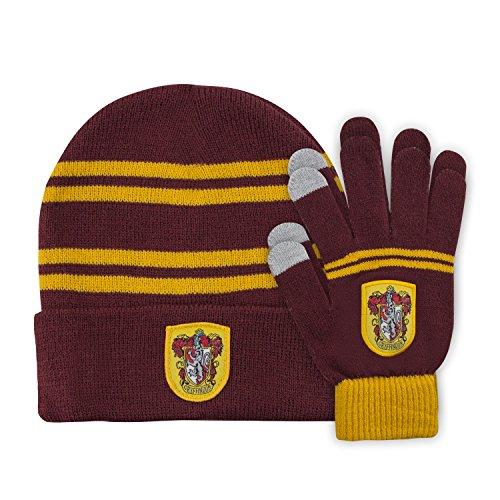 Cinereplicas - Harry Potter - Mütze und Handschuhe Set - Kinder - Offiziel lizensiert -Gryffindor - Rot und Gelb