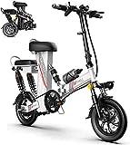 Bicicleta electrica, Bicicleta eléctrica, scooter portátil plegable de 12 pulgadas de 12 pulgadas, motor de 48V350W, múltiples amortiguadores, y exhibición de alta definición, señoras Padre-niño Bicic