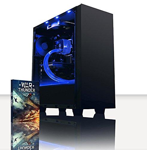 VIBOX Theta 1 Gaming PC Ordenador de sobremesa con War Thunder Cupón de Juego (4,0GHz AMD FX Quad-Core Procesador, AMD Radeon R7 250, 8GB DDR3 1600MHz RAM, 1TB HDD, Ningún Sistema operativo)