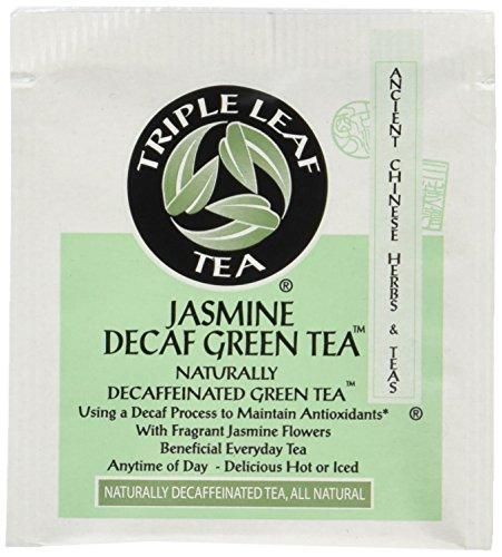 Triple Leaf Tea Jasmine Green Tea Decaffeinated Tea Bags, Pack of 2