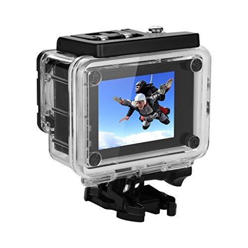 "Excelvan Q5 - Cámara Deportiva DV (2.0"" HD LCD Pantalla, Lente 170ºHD, Impermeable 30M, WiFi para IOS y Android, 32GB Max HD DV, Visión Nocturna, 12MP, H.264, HD 1080P, Anti-Vibración) (Negro)"