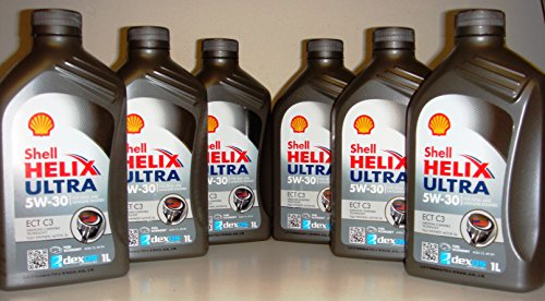 Shell Helix Ultra ECT 5w30 Fully Synthetic Motor oil 6 pieces x1 liter = 6 Liters