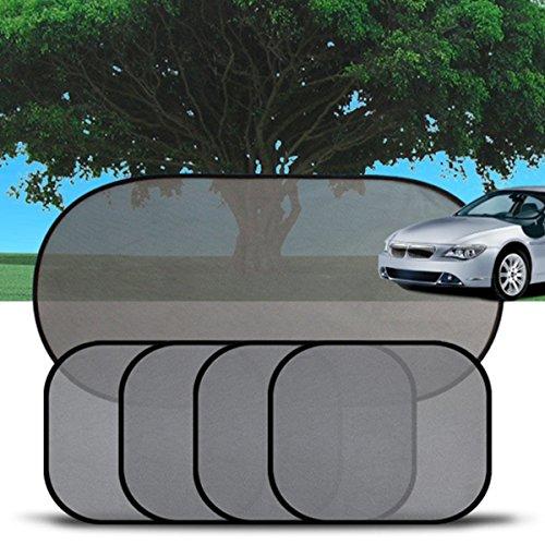 CCINEE Parasole per auto adatto all'uso con bambini, protezione dal sole per auto e bambini, confezione da 5 pezzi