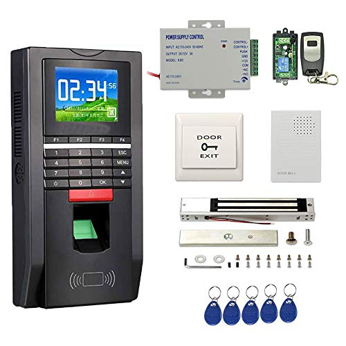 Complete Biometric Kits Fingerprint RFID Access Control System 600Lbs Magnetic Lock TCP/IP Time Attandance