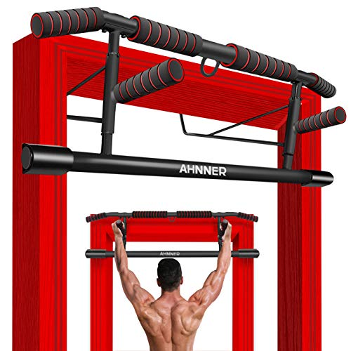Pull Up Bar for Doorway, Multifunctional Angled Grip Chin Up Bar for Doorframe Upper Body Workout Bar, No Screw Installation - Home Fitness Strength Training Door Pullup Bar