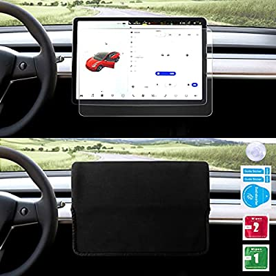 Amazon - 50% Off on Tesla Model 3/Y Screen Protection Kit- Clear Tempered Glass Screen