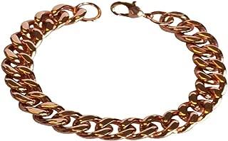 solid copper chain bracelet
