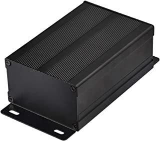 """wlaniot 4.33"""" 2.87"""" 1.85""""(LWH) Aluminum Electronic Project Box Enclosure Case DIY Black Aluminum Enclosure Case"""