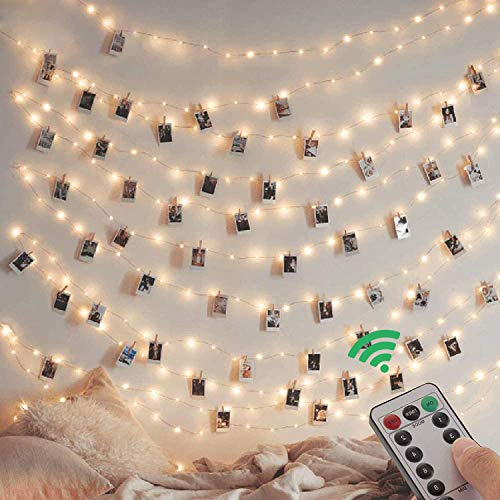 [2 Pack] Fairy String Lights,10m/100led 8 Modes USB Plug in Powered Copper String Lights Waterproof for Outdoor/Indoor with Remote Timer for Girls Bedroom, Party, Wedding, Christmas(Warm White)