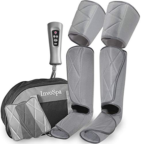 Read About Leg Massager for Circulation - Foot and Calf Massager Air Compression Leg and Thigh Wraps...