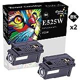 (2-Pack, Black) ColorPrint Compatible Toner Cartridge Replacement for Dell E525W E525 for Dell E525w 525W Wireless Color Laser Printer for 593-BBJX Printer
