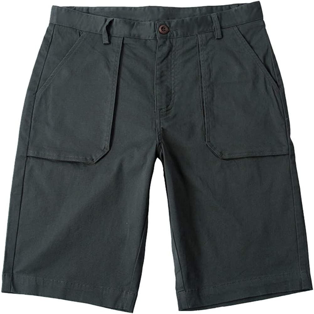 Astellarie Mens Casual Baggy Shorts, Breathable Straight Fit Solid Color Cargo Shorts