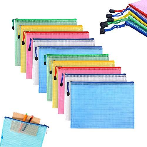 Reißverschlusstasche A4 Kunststoff-Reißverschlusstasche ID-Tasche, wasserdichte Aktentasche, Netzreisezubehör mit Reißverschluss, Reißverschluss, 5 Farben (10)