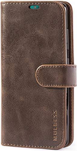 Mulbess Handyhülle für Honor 20 Hülle, Huawei Nova 5T Hülle, Leder Flip Hülle Handytasche Schutzhülle für Honor20 Tasche, Vintage Braun