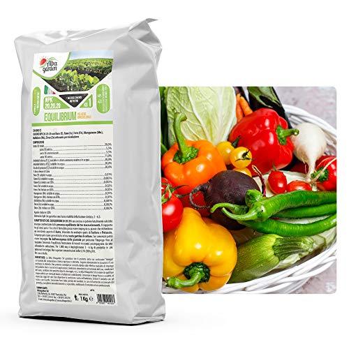 Albagarden - Equilibrium NPK 20.20.20 + Microelementi Azoto Fosforo Potassio per Piante Orto Prato Agrumi Orchidee Giardino x 1 kg