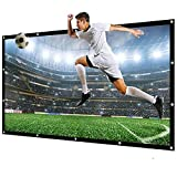 HD Portable Projector Movies Screen Salange Projector Screen Portable pantalla proyector 60 100 120 inch 16:9,Polyester Outdoor Movie Screen For Travel Home Theater Ideal for Home Theater Outdoor Indo