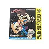 Musiclily Alice Stainless Steel Folk Acoustic Guitar 1St E Strings,Light(Pack of 5)