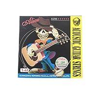Musiclilyアリスステンレススチールアコースティックギター弦第1弦(5パック)