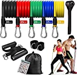 ADSDIA 12 Pack Resistance Bands for Men Women,Resistance Bands Set Exercise Bands for Working Out or Home -Stackable Up to 100 lbs. Perfect Muscle Builder for Arms, Back, Leg, Chest, Belly, Glutes