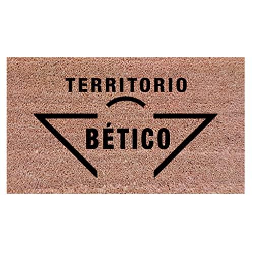 Felpudo para la Entrada de casa. Felpudo Betico. Regalo para Aficionados del Real Betis. Felpudo 70x40 cm. Idea para Regalar a una Persona Que le guste el fútbol ✅