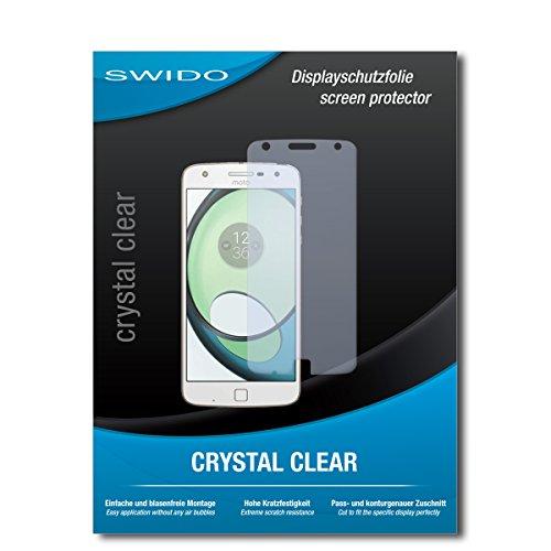 SWIDO Schutzfolie für Motorola Moto Z Play [2 Stück] Kristall-Klar, Hoher Festigkeitgrad, Schutz vor Öl, Staub & Kratzer/Glasfolie, Bildschirmschutz, Bildschirmschutzfolie, Panzerglas-Folie