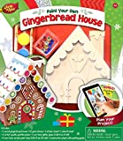 MasterPieces Works of Ahhh Christmas Real Wood Christmas Large Acrylic Paint Kits, Holiday Gingerbread House, Mom's Choice Award, for Ages 4+