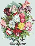Libro Colorear Flores: Libro de Colorear para Adultos Flores para Aliviar el Estrés de 100 con Flores realistas, ramos, guirnaldas, remolinos, ... de flores inspiradores, flores Libro Colorear