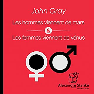 Les hommes viennent de Mars, les femmes viennent de Vénus                   De :                                                                                                                                 John Gray                               Lu par :                                                                                                                                 René Gagnon                      Durée : 1 h et 45 min     108 notations     Global 4,5