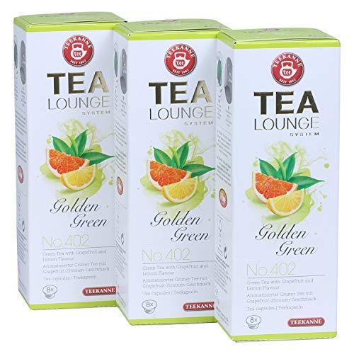 Teekanne Tealounge Kapseln - Golden Green No. 402 Grüner Tee (3x8 Kapseln)