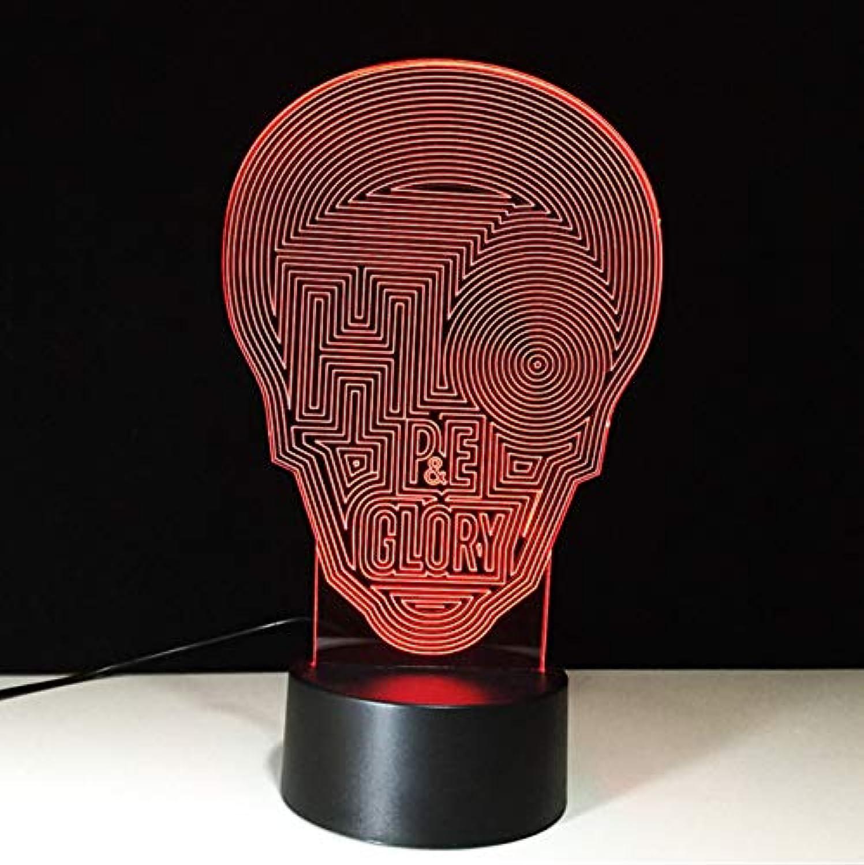 Schdel Molding Tischlampe Usb 7 Farben ndern 3D Led Labyrinth Kopf Nachtlicht Wohnzimmer Schlaf Beleuchtung Dekor Kinder Geschenke