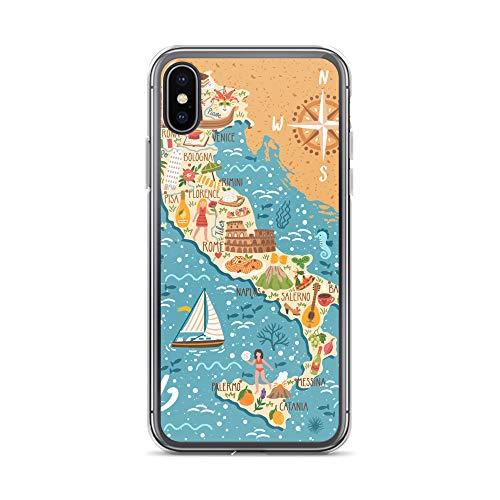 blitzversand Handyhülle Italien Italy Italia kompatibel für iPhone 11 Italien Landkarte Stiefel Schutz Hülle Case Bumper transparent M7