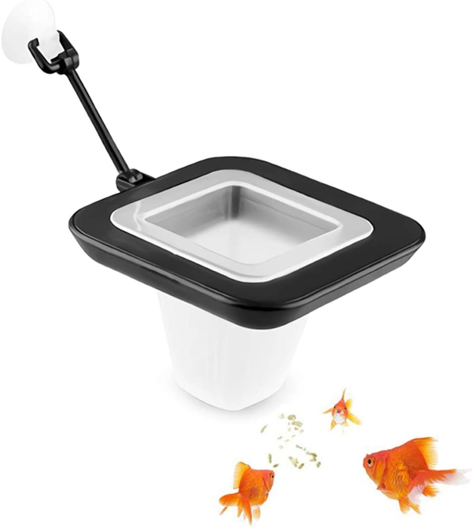 Aquarium Fish Feeding Ring Floating Food Feeder Circle with Suction Cup Easy to Install,Round Square and Round Shape,Blood Worms Meal Worms for Betta Guppy Goldfish